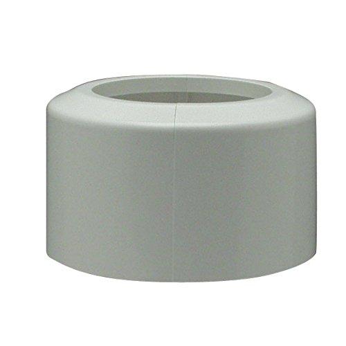 Cornat CWCROSKL00 WC-Klapprosette, 110 mm Kunststoff, weiß