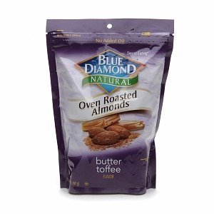 Blue Diamond Oven Roasted Almonds, Butter Toffee, 16-Ounce Container