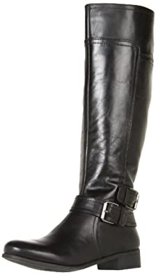 Nine West Women's Shiza Knee-High Boot,Black Austin Leather,5 M US