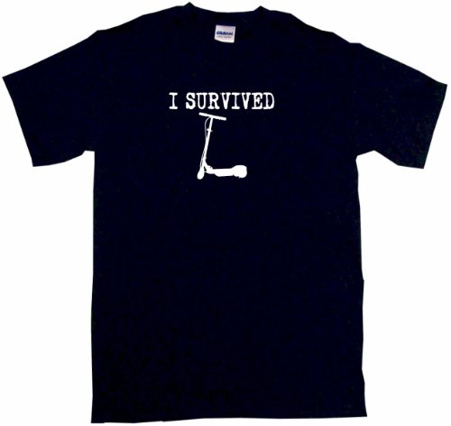 I Survived Two Wheeled Kick Scooter Men's Tee Shirt XL-Black