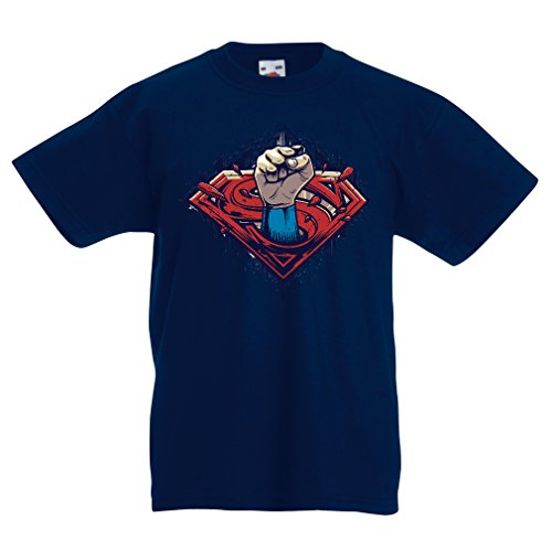 funny-t-shirts-for-kids-super-hero-12-13-years-dark-blue-multi-color