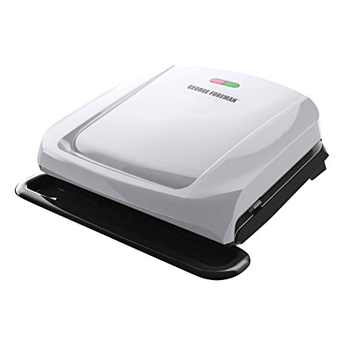 George Foreman GRP1060P 4-Serving Removable Plate Grill, Platinum