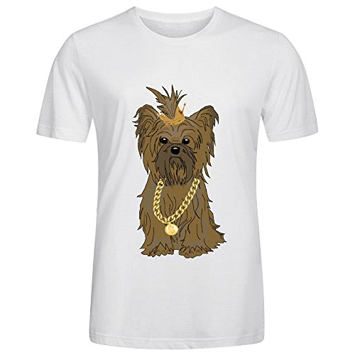 Achillestheyorkie Tee For Men White (Jessica Simpson Maternity Clothes compare prices)