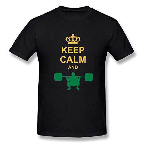 Keep Calm Lifting Men'S Slim Fit Tee Shirts