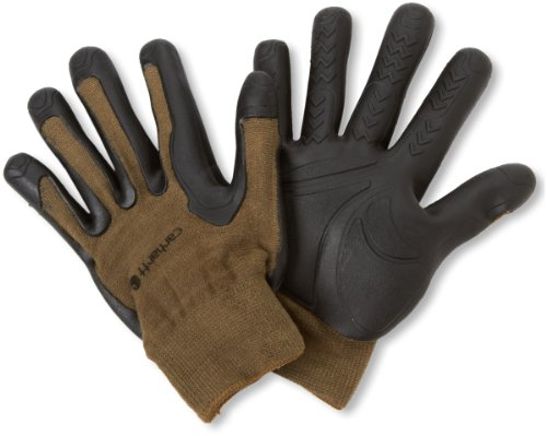 Carhartt Men's C-Grip Pro-Palm High Dexterity Vibration Reducing Glove, Army, Small/Medium