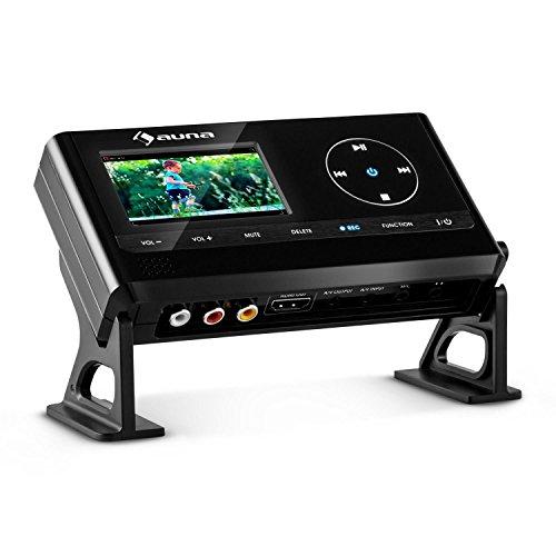 """Auna """"Video Grabber"""" Videokonverter VHS-Video Umwandler zum digitalisieren von VHS Videokassetten (7cm (2,8"""")-Display, HDMI-Ausgang, Full HD, USB-und SD-Speicherkarten-Slot) schwarz"""