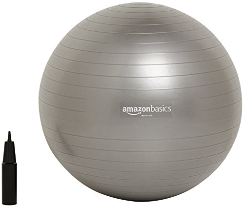 AmazonBasics Balance Ball with Hand Pump - 75 cm