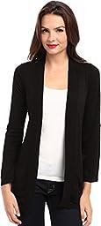 Splendid Women\'s Grandpa Cardigan Sweater, Black, X-Small