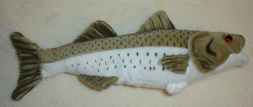 "Striped Bass 10"" Stuffed Plush Animal - Cabin Critters Freshwater Fish Collection"