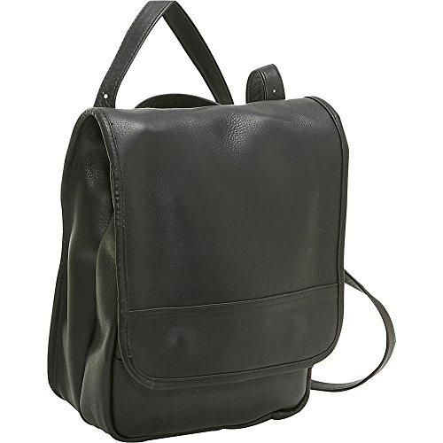 le-donne-leather-convertible-back-pack-shoulder-bag-black