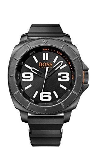 Boss 1513106 - Reloj de cuarzo para hombre, correa de goma color negro