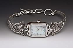 Silver Spoon Mother of Pearl Rectangular Unique Watch Phoebe