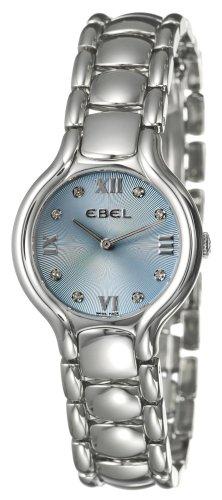 Ebel - Beluga - 9157421-34850 - Montre Femme - Acier - Quartz Analogique - Cadran Bleu - Index Diamant - Bracelet Acier