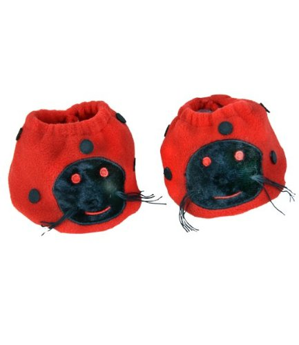"Luv Bug Slippers Teddy Bear Clothes Fits Most 14"" - 18"" Build-a-bear, Vermont Teddy Bears, and Make Your Own Stuffed Animals"
