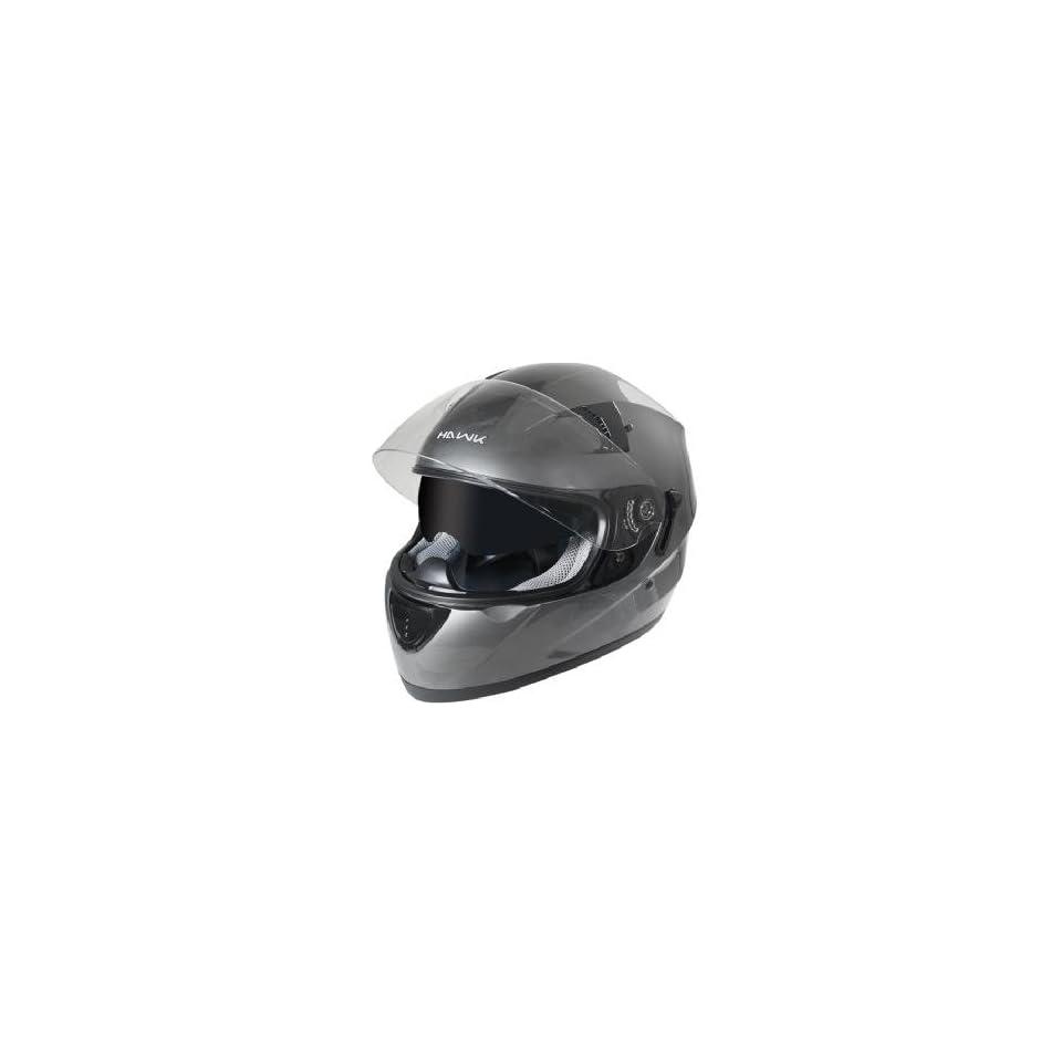 cff3ff40 Hawk ST 1150 Gun Metal Dual Visor Full Face Motorcycle Helmet Sz 2XL ...
