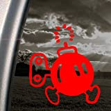 SUPER MARIO Red Decal BOMB-OMB NES NINTENDO Car Red Sticker