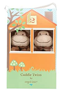 Angel Dear Cuddle Twin Set, Brown Monkey