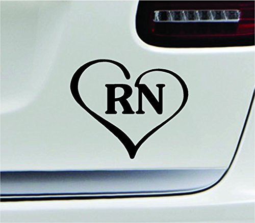 Heart-with-Rn-Text-Nurse-Hospital-Love-Life-Symbol-Decal-Family-Love-Car-Truck-Sticker-Window
