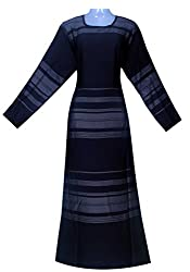 Justkartit Women's Black Colour Nida Burkha With Original Nida Work For Working Women / Modern Style Work Wear Islamic Burkha / High Quality Burkha (New Arrival)