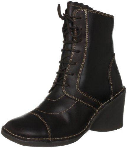 Fly London Women's Epal Dk Brown Lace Ups Boots P801196002 3 UK