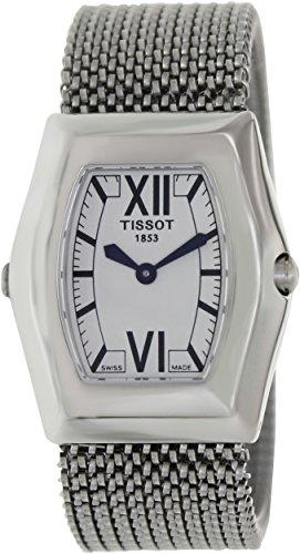 Tissot T-Victoria de las mujeres T08 1,187,53, plata de acero inoxidable reloj de pulsera de cuarzo suizo con esfera de color blanco