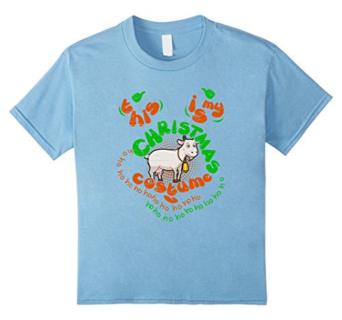 [Kids goat Christmas Costume nicetee 12 Baby Blue] (Infant Goat Costumes)