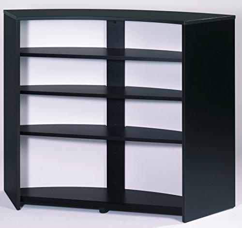simmob snack134nob bar comptoir panneau bois m lamin noir 55 3 x 134 5 x 104 8 cm. Black Bedroom Furniture Sets. Home Design Ideas