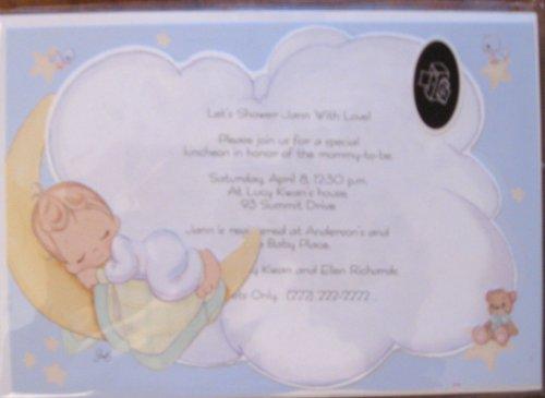 Precious Moments 'Baby Boy' Invitations w/ Env. (8ct) - 1
