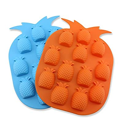 Candy Making Molds, 2PCS YYP [12 Cavity Pineapple Shape Mold] Silicone Candy Molds for Home Baking - Reusable Silicone DIY Baking Molds for Candy, Chocolate or More, Set of 2