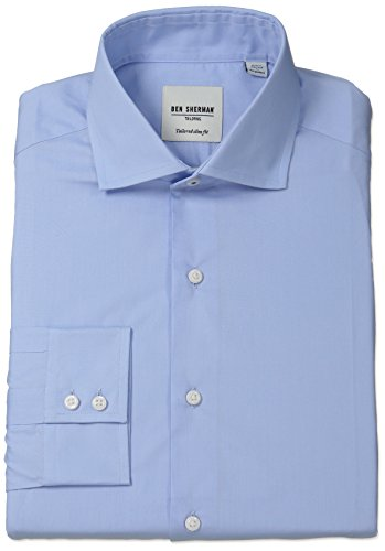 ben-sherman-mens-oxford-shirt-with-spread-collar-blue-165-neck-34-35-sleeve