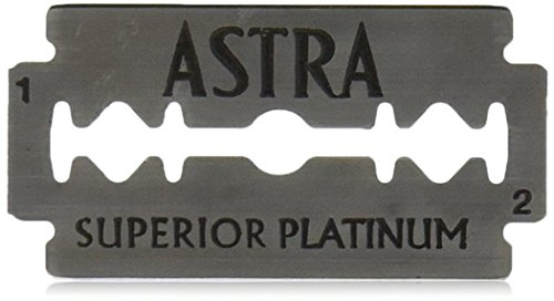 Astra Platinum Double Edge Safety Razor Blades ,100 Blades (20 x 5) (De Razor Blades compare prices)