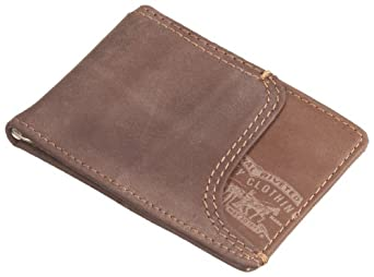 Levi's Men's Front Pocket Wallet With Money Clip,Brown,One Size