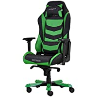 DX Racer Iron Gaming Chair - Green and Black Stripe - OH/IS166/NE