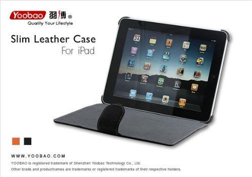 AYL (TM) Genuine Leather Case Folio with 3-in-1 built-in Stand for Apple Ipad Tablet/wifi 3G Model 16gb, 32gb, 64gb (Black)