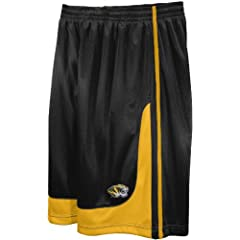 NCAA Mens Missouri Tigers Fast Break Hoop Short with Draw Cord by Majestic