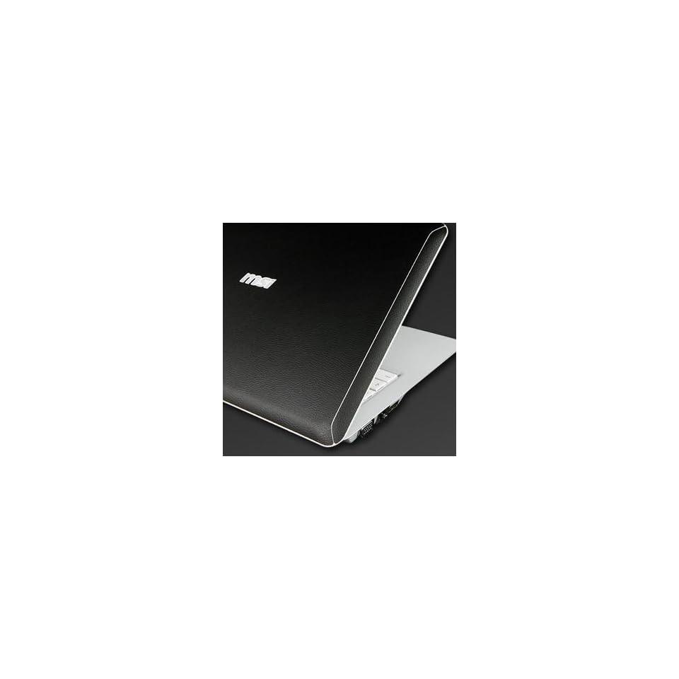 MSI X340 Laptop Cover Skin [Deepblack Leather] Electronics