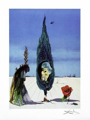 Enigma of the Rose by Salvador Dali
