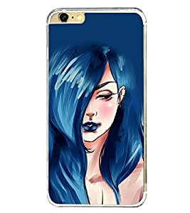 Beautiful Girl with Blue Hair 2D Hard Polycarbonate Designer Back Case Cover for Apple iPhone 6S