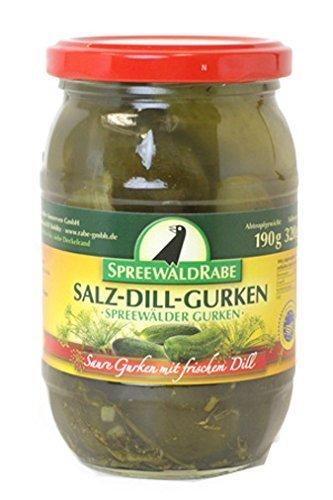 Spreewald Rabe salt cucumber pickles 190g