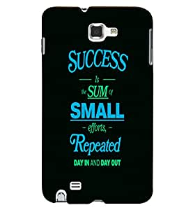 PrintVisa Quotes & Messages Success 3D Hard Polycarbonate Designer Back Case Cover for Samsung Galaxy Note 2