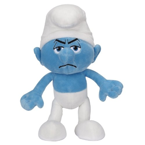 The Smurfs Plush Grouchy Smurf, 10 Inch - 1