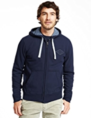 North Coast Cotton Rich Washed Hooded Sweat Top