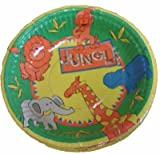 Jungle Themed Party Set of 10 Large Paper Bowls. Matching Plates and Napkins also available
