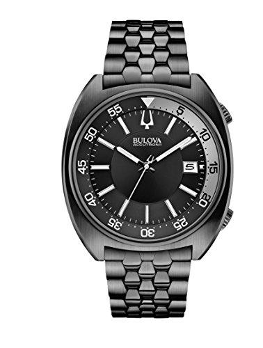Bulova - 98B219 - Snorkel - Montre Mixte - Quartz Analogique - Cadran Noir - Bracelet Acier plaqué Noir