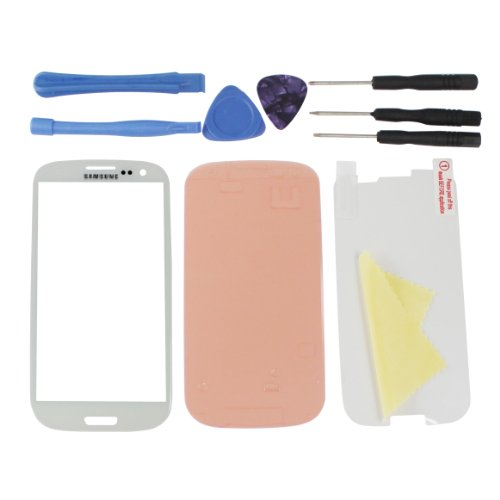 Dazone New Replacement Parts White Lens Screen Glass For Samsung Galaxy S3 Iii Gt-I9300 front-19784