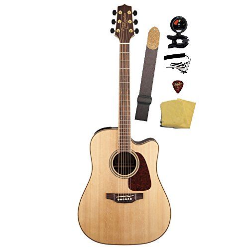 Takamine Gd93Ce-Nat Dreadnought Cutaway Acoustic-Electric Guitar Bundle, Natural