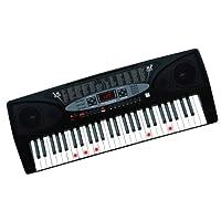 SunRuck (サンルック) 電子キーボード プレイタッチフラッシュ54 発光キーで簡単演奏 54鍵盤 デモ曲収録 ブラック