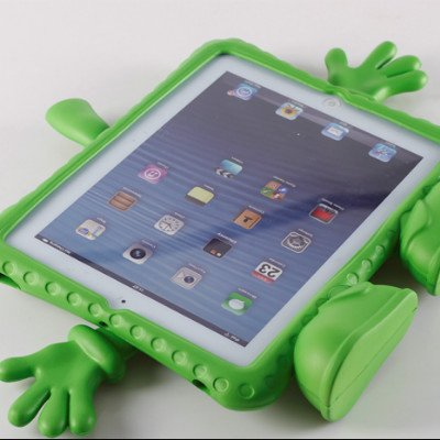 Amar®New Monster Series Safety Kids Children Thick Eva Foam Handle Case Cover For Apple Ipad Mini (Green) front-66396