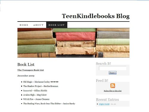 Kindle Teen Books