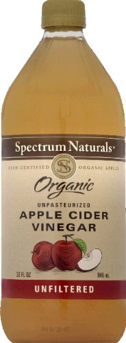 Spectrum Vinegar-Cider Raw/Unfiltered(95% Organic), 16-Ounce (Pack of 2)